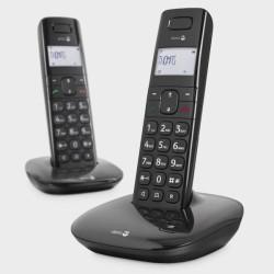 2 téléphones sans fil DORO noir