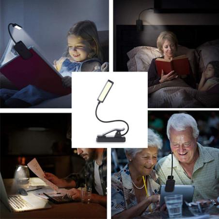 Lampe de lecture à 9 Leds utilisations différentes