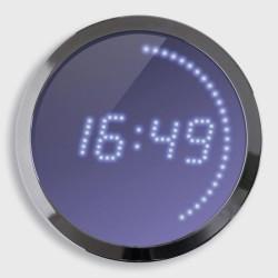 Horloge à LEDs bleu 30cm