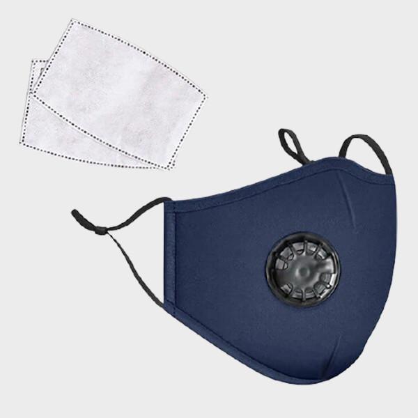 Masque en tissu avec valve et 20 filtres de protection