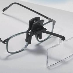 Sur lunettes loupe avec 4 lentilles