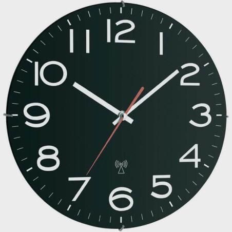 Horloge à gros chiffres et fond noir