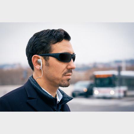 Boitier électronique Rango pour canne blanche oreille homme