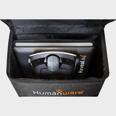 Valise de transport à roulettes pour les téléagrandisseurs Full HD Reveal 16/16i vue d'intérieur