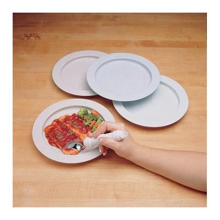 Assiette à rebord antidérapante