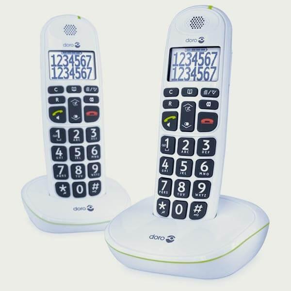 Téléphones sans fil Doro 110 parlant DUO