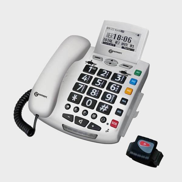 Téléphone filaire gros caractères