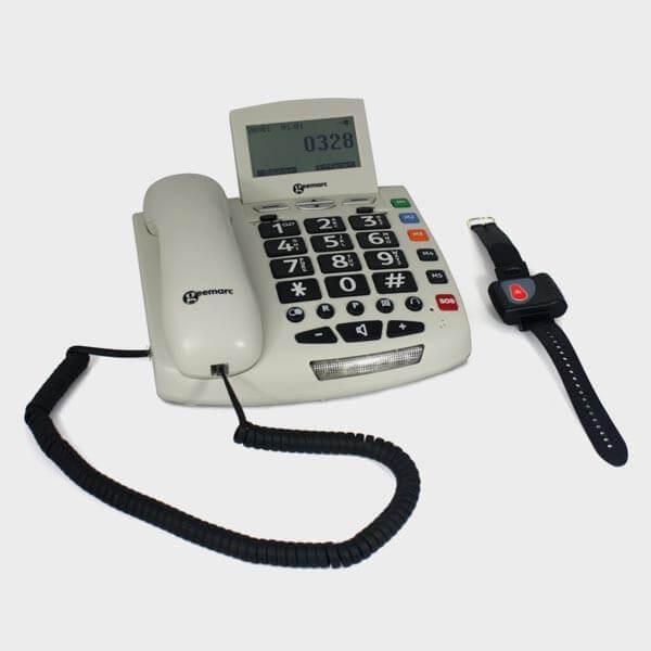 Téléphone grosses touches filaire