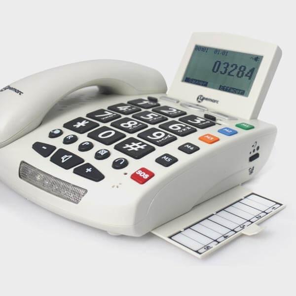Téléphone filaire avec télécommande d'urgence
